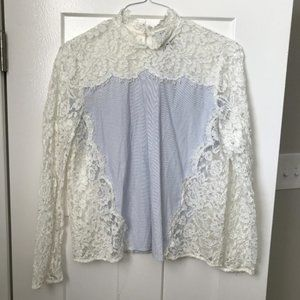 HD IN PARIS sian lace blouse striped J2